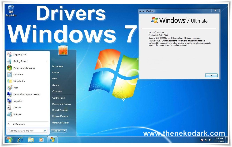 drivers para windows 7 32 bits y 64 bits mega todo en mega. Black Bedroom Furniture Sets. Home Design Ideas
